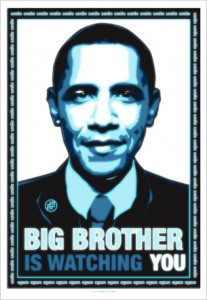 Obama - Big brother is watching you poster