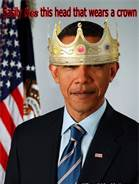 Obama king with crown